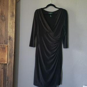 Ralph Lauren little black dress size 12